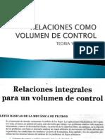 Relaciones Como Volumen de Control-clase6
