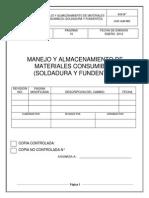 002.-Procedimiento de Manejo y Almacenamiento de Materiales Consumibles (Soldadura y Fundentes)