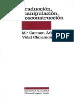 Vidal Claramonte - Tapa y Referencia