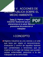 Tema 13 Higiene y Seguridad Industrial