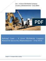 Manual de Operacion y Mantenimiento Grua International 500B