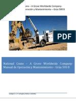 Manual de Operacion y Mantenimiento Grua International 500B