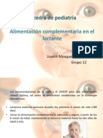 Expo de Pediatria Alimentacion