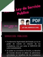 Nueva Ley de Servicio Publico