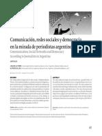 Comunicación, redes sociales y democracia en la mirada de periodistas argentinos (2012.03)