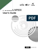 Pixma Mp830 User Guide
