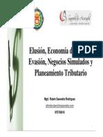 Elusión, Economía de Opción, Evasión, Negocios Simulados y Planeamiento Tributario - Rubén Saaved