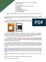 Instruções Display Computador de Bordo