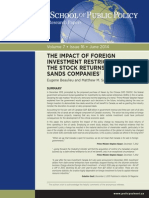 effect of foreign investment control on tar sands development