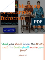 Known Methods of Deception Detection