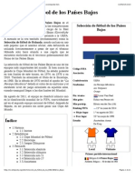 Selección de Fútbol de Los Países Bajos - Wikipedia, La Enciclopedia Libre