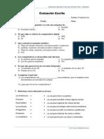 Primera Evaluación Escrita 5to