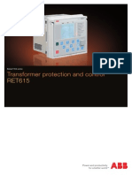 RET615_brochure - Transformer Protection