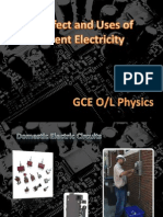 The Effect and Uses of Current Electricity
