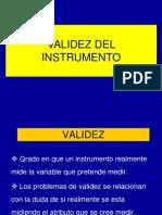 CLASE N° 14  VALIDEZ DEL INSTRUMENTO