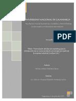 Monografia Practicas Pre i - Plan de Marketing Industrial Confyex s.r.