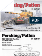 Pershing-Patton Tanks in Action