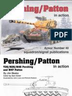 Pershing-Patton Tanks in Action