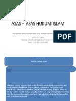 Asas – Asas Hukum Islam