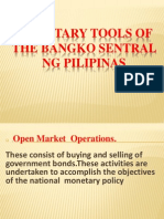 Monetary Tools of the Bangko Sentral Ng Pilipinas