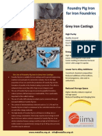 Pig Iron for Grey Iron Foundries