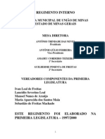 Regimento Interno União de Minas
