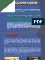 diapositiva taludes