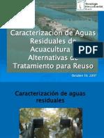 Carcat. de Aguas Residuales en Acuacultura