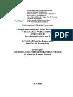 Microbiologie Sem II, 2011 Farmacie II