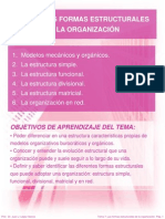 Tema 7 Las Formas Estructurales de La Organizacion
