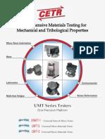 comprehensive material testing