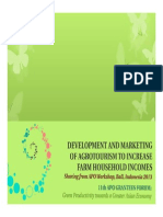 Echo-sharing on APO Agrotourism Development and Marketing Workshop Bali Indonesia 2013