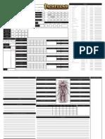 Pathfinder Rpg Character Sheet by Trey u