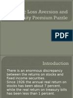 Myopic Loss Aversion and the Equity Premium Puzzle