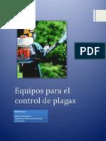 Equipo Para Control de Plagas