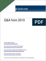 AccountsQ&a 2010