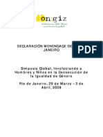 Declaracion de Rio 22-10-2009