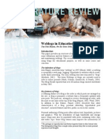 Weblogs in Education