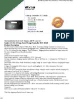 24 Volt 30 Amp Solar Charge Controller