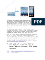 How to Convert WMV Video to Play on Apple iPad