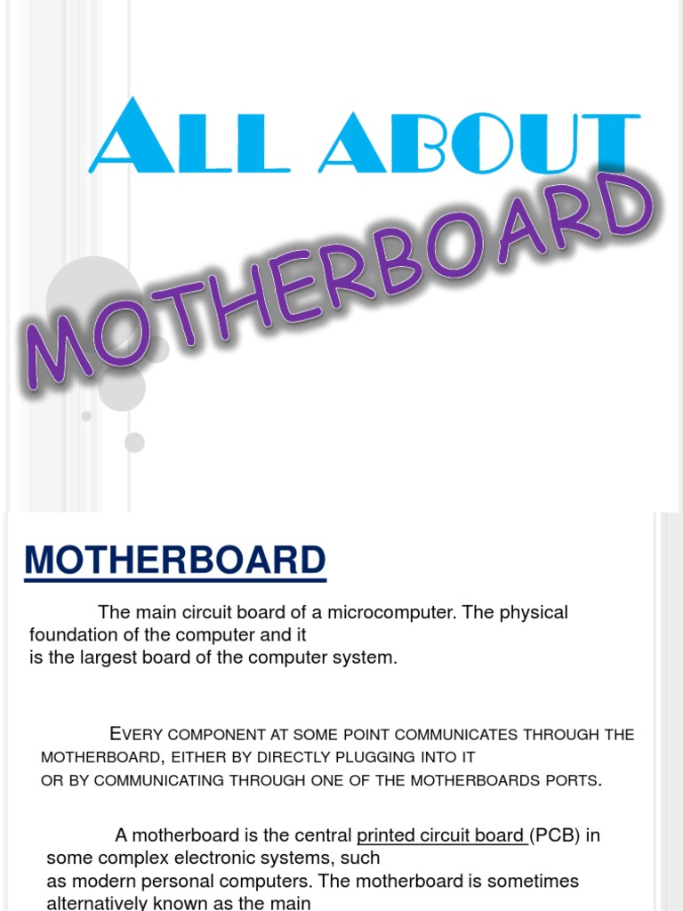 All About Motherboard