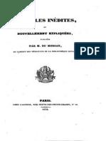 Médailles inédites ou nouvellement expliquées / publ. par Du Mersan