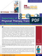 Importance of Physical Therapy Transcription for Healthcare Professionals