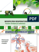 Modificari respiratorii in efort