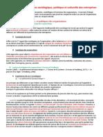 Partie Chapitre 3 - Approches Sociologique, Politique Et Culturelle Des Entreprises
