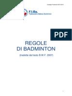 Regole Di Badminton