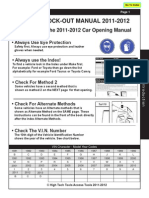 Access Tools 2011-12 Car Opening Manual