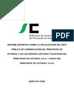 informe fiscalización RTPA por la Sindicatura, 2006