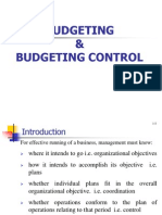 Budgeting and Budgeting Control