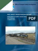 Investigation Report Grain Train Derailment Whittingham